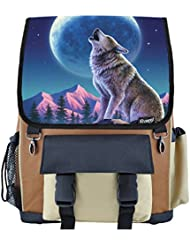 Wolf Moon Howl School Backpack for Boys, Girls, Kids
