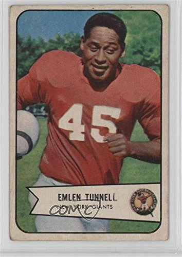 Emlen Tunnell Ungraded COMC Good to VG-EX (Football Card) 1954 Bowman - [Base] - Football Cards 1954