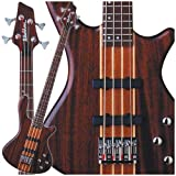 Washburn T24NMK Taurus 4-String Electric Bass Guitar with Gig Bag, Natural Matte Finish