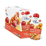 Plum Organics Stage 2, Organic Baby Food, Sweet Potato, Apple and Corn, 4 ounce pouch (Pack of 12)