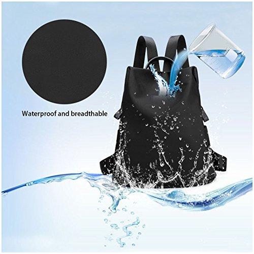 backpack Tibes Black lightweight lightweight waterproof Tibes school backpack npXwBxd