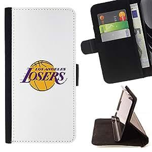 Momo Phone Case / Flip Funda de Cuero Case Cover - Perdedores Angeles Equipo de baloncesto divertido - Samsung Galaxy Note 5 5th N9200