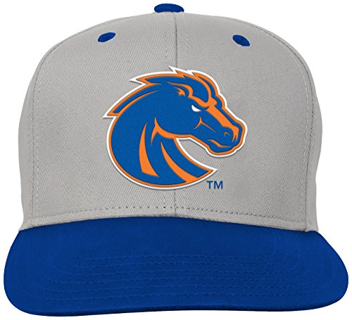 NCAA by Outerstuff NCAA Boise State Broncos Kids & Youth Boys Grey Two Tone Flatbrim Snapback Hat, Grey, Youth One Size - Broncos State Boise Hats