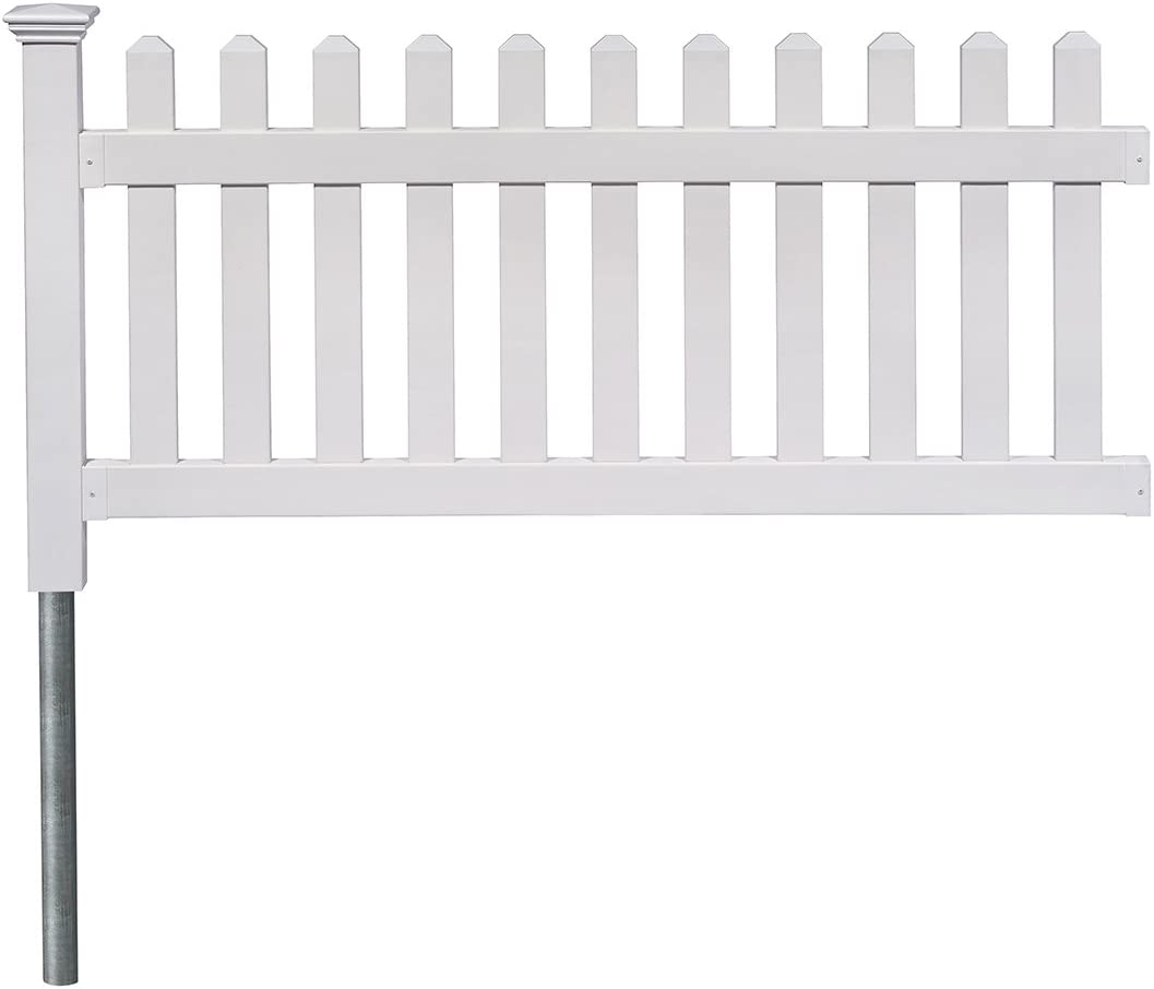 "Zippity Outdoor Products ZP19002 Fence Newport, 36"" H x 72"" W, White"