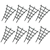 WINGOFFLY 8Pcs Plastic Superimposed Garden Plant Support Pot Mini DIY Climbing Trellis Flower Supports