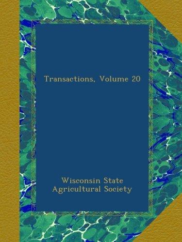 Download Transactions, Volume 20 pdf epub