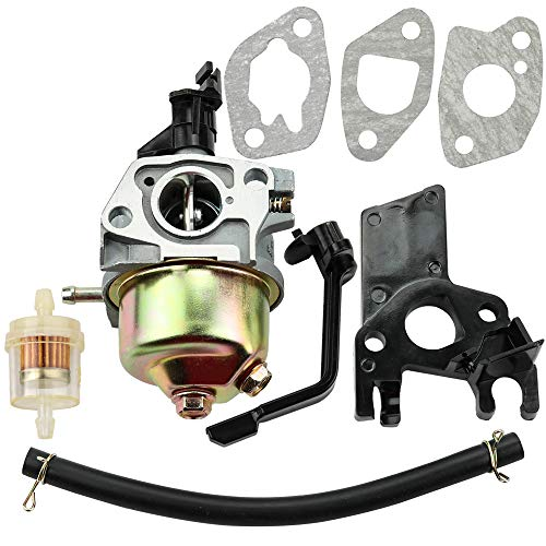 (Leopop Carburetor with Gasket Fuel Filter Intake Manifold for LCT CMXX MAXX 208cc Gasoline Engine 20824011 EZ-CMXX208-C Tune Up Kit Lawn Mower )