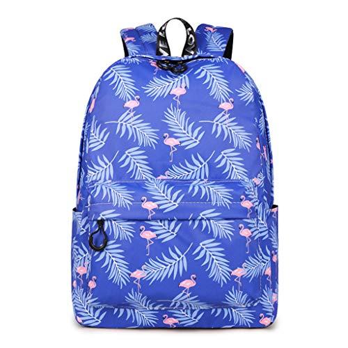 Waterproof Backpack Flamingo Pattern Travel Bookbag Animal Printing School Bags Teenage Girls Mochilas