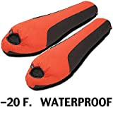 Mummy Sleeping Bags: Matched PAIR High Peak Mt. Rainier WATERPROOF ~ Minus 20 Degree F. -20 F. ~ Set of 2, Outdoor Stuffs