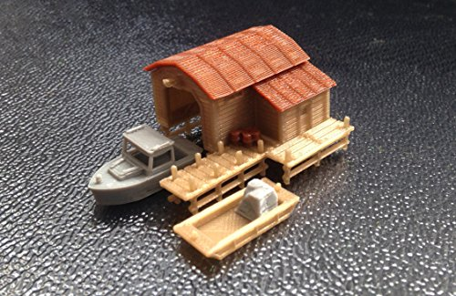 Used, Outland Models Train Railway Scenery Boathouse with for sale  Delivered anywhere in USA