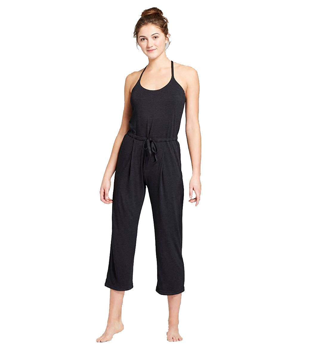 JoyLab Womens Yoga Jumpsuit (Black, M)
