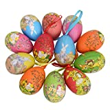 #7: 12pcs New Vintage Style Paper Mache Egg Hanging Ornaments Easter Decoration