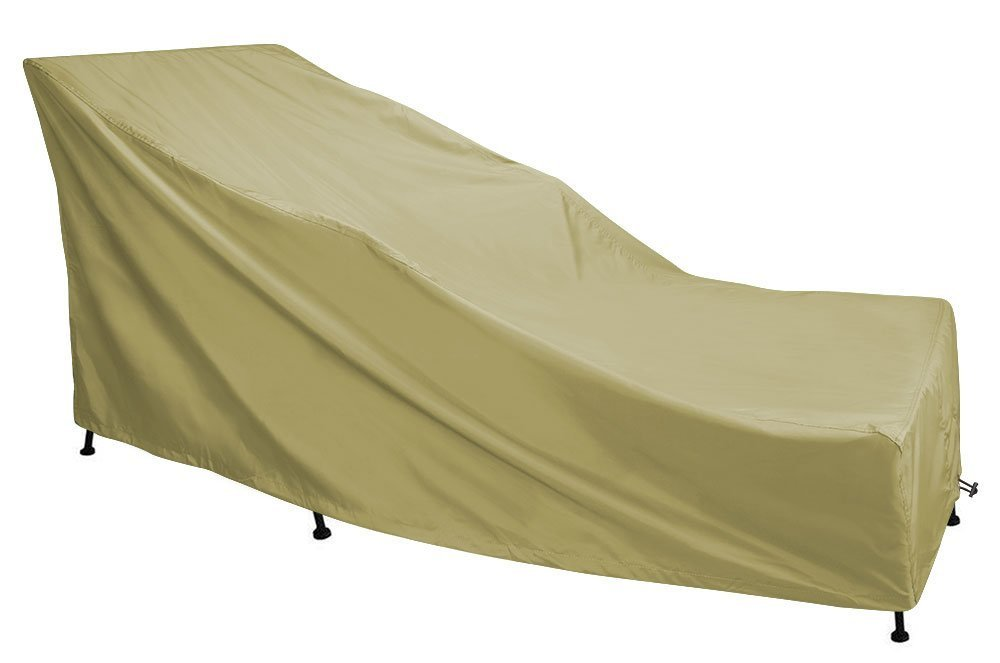 Eevelle Portofino Patio Day Chaise Lounge Cover   Tan (Large)