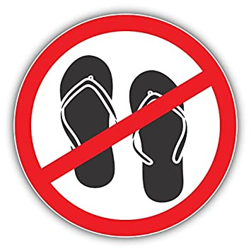 Image result for No Slipper sign
