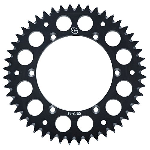 Primary Drive Rear Aluminum Sprocket 49 Tooth Black - Fits: KTM 65 SX 2000-2018 (Aluminum 49 Teeth)