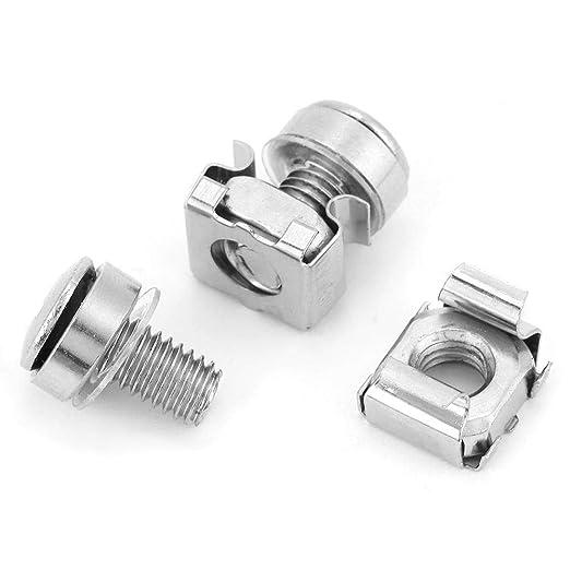 M5 * 16 20 piezas Liukouu 20pcs // set Kit de surtido de tornillos de rack de gabinete de red y tuercas de jaula