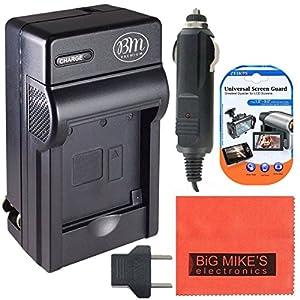 DMW-BCF10 Battery Charger for Panasonic Lumix DMC-TS2 DMC-TS3 DMC-TS4 DMC-F2 DMC-F3 DMC-FH1 DMC-FH3 DMC-FH20 DMC-FH22 DMC-FS6 DMC-FS12 DMC-FS15 DMC-FS25 DMC-FS42 DMC-FS62 DMC-FT1 DMC-FP8 DMC-FX700 Digital Camera + More!!