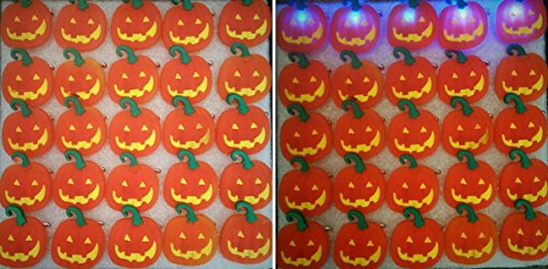 Halloween Flashing Pin (25 PC LED Light Up Halloween Flashing Party Favor Pins - Pumpkins or Ghosts by Mammoth Sales (Pumpkin 2))