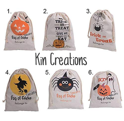 Treat Bags - 50pcs 2016 Halloween Sacks Bag Canvas Personalized Children Candy Gifts Pumpkin Spider Treat Or - You Items Assorted Ziplock Tall Opal Apples Mouse Potter Thanksgiving -