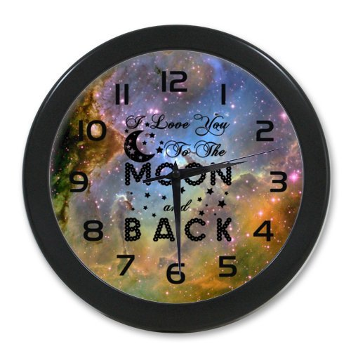 Modern I Love You to the Moon and Back Wall Clock 100% Quartz