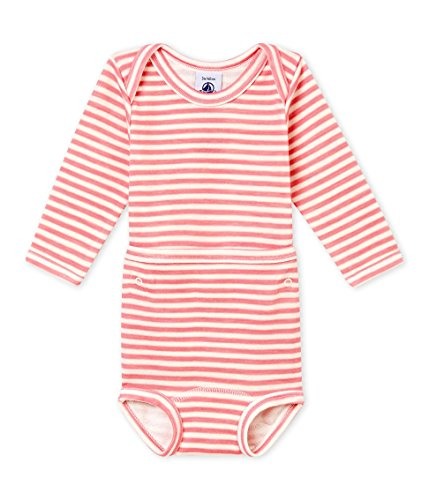 Petit Bateau Long Sleeves 2 PC. Striped Bodysuit Sizes 3-36 Months Style 44947/01P (Size 6/M Style 44947/01P) ()