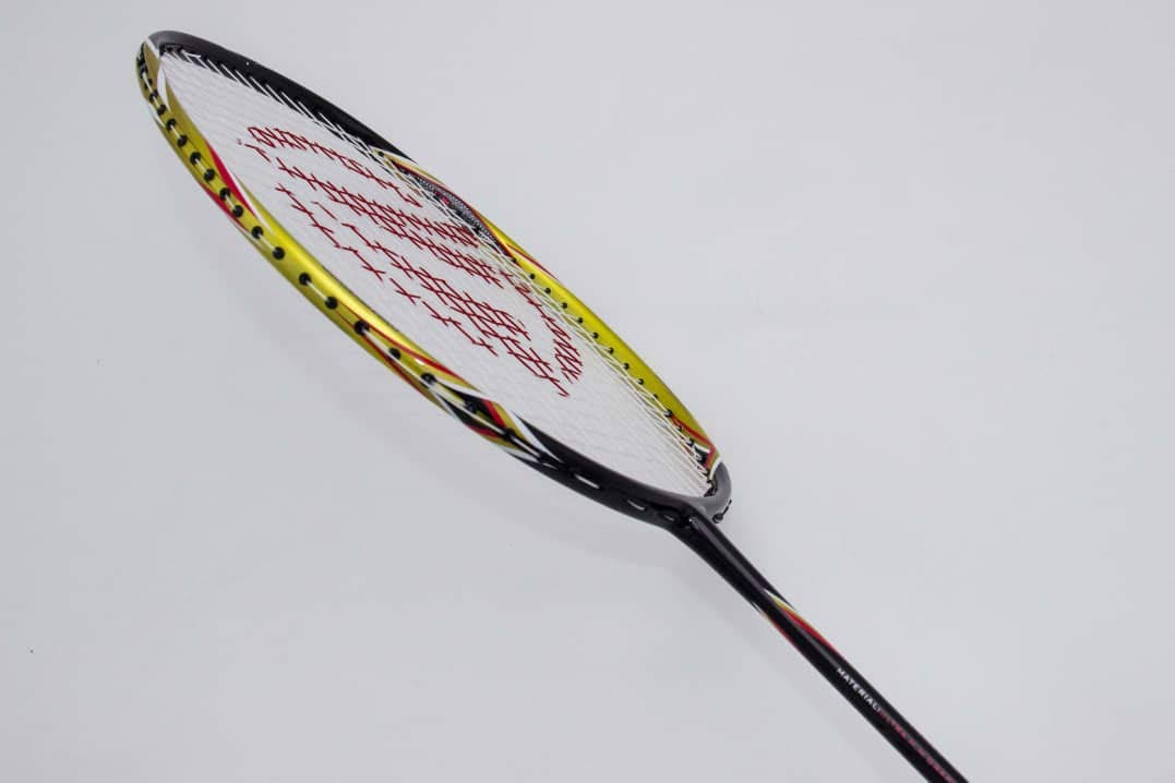 Dynamic Shuttle Sports Titan G-Force 7 Professional Carbon Fiber Badminton Racquet, Lightweight Badminton Racket Including Cover (Gold)