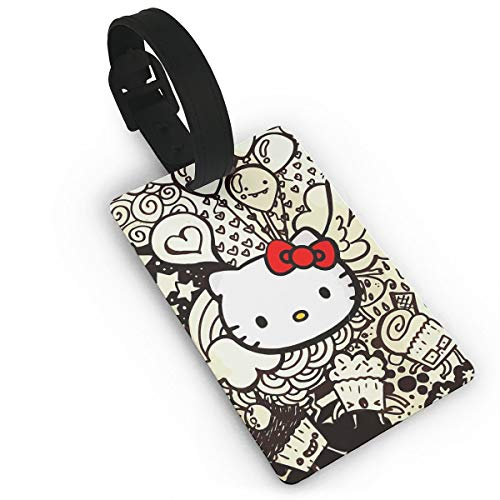 HYHHCZX Travel ID Tags for Suitcase Balloon and Hello Kitty Luggage Tags Print PVC Suitcase Carry-on Id ()