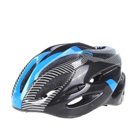 ryask (TM) Reino Unido Super luz deportes bicicleta de carretera bicicleta Ciclismo casco de seguridad con visera de fibra de carbono adultos, ...