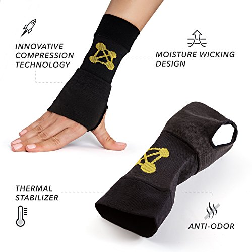 CopperJoint Copper-Infused Compression Wrist Sleeve, High-Performance Design Promotes Improved Circulation to Help Reduce Inflammation and Pain, Single Sleeve (Right, Small) by CopperJoint (Image #2)