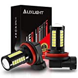 AUXLIGHT H11 H8 H11LL H8LL H16 (Japanese) LED Fog Light Bulbs 6000K Xenon White, Super Bright 2800 Lumens 33-SMD Chips LED Daytime Running Lights DRL Bulbs Replacement for Cars, Trucks (Pack of 2)