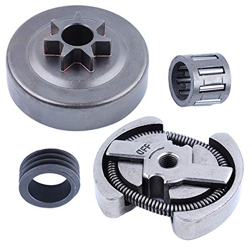 Adefol Clutch Drum Sprocket Needle Bearing Kit for Husqvarna 36 41 136 137 141 142 Chainsaw