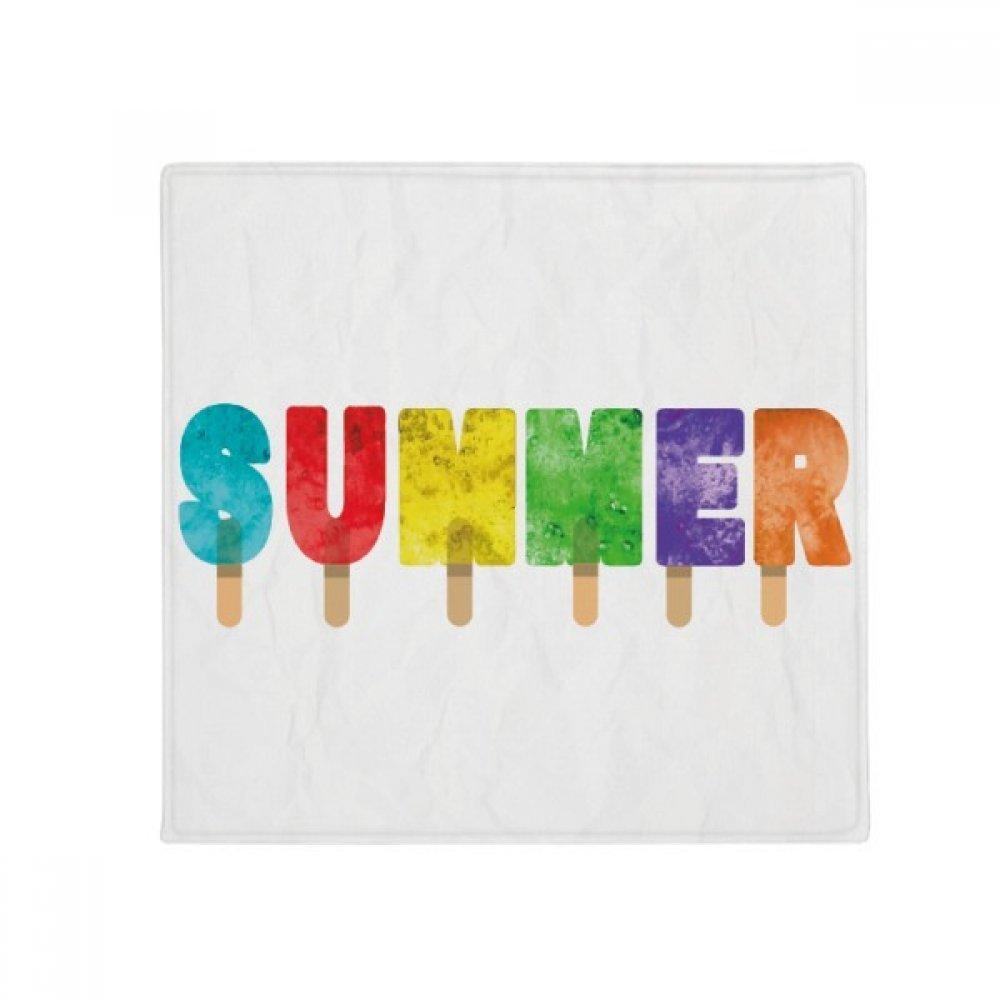 DIYthinker Summer English Word Popsicles Ice Cream Anti-Slip Floor Pet Mat Square Home Kitchen Door 80Cm Gift