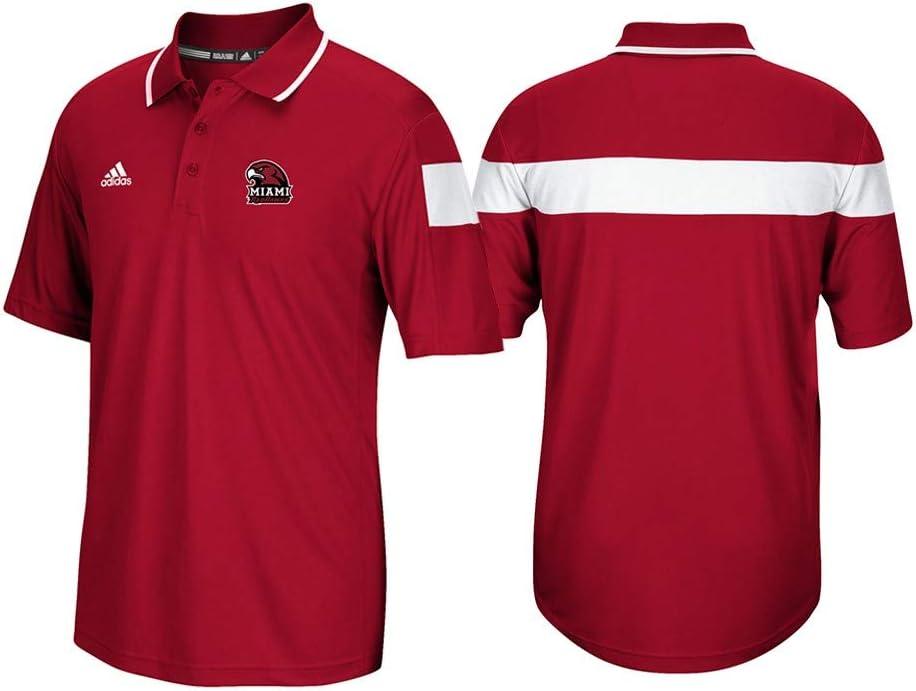 adidas Miami Redhawks NCAA Mens Sideline Polo Shirt