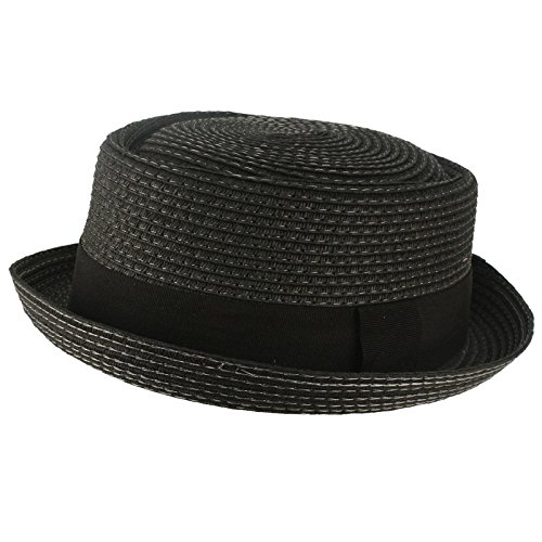 Mens-Cool-Summer-Straw-Pork-Pie-Derby-Fedora-Upturn-Brim-Hat