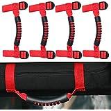 4 x Roll Bar Grab Handles Grip Handle for Jeep Wrangler YJ TJ JK JK JL JLU Sports Sahara Freedom Rubicon X & Unlimited 1955-2018