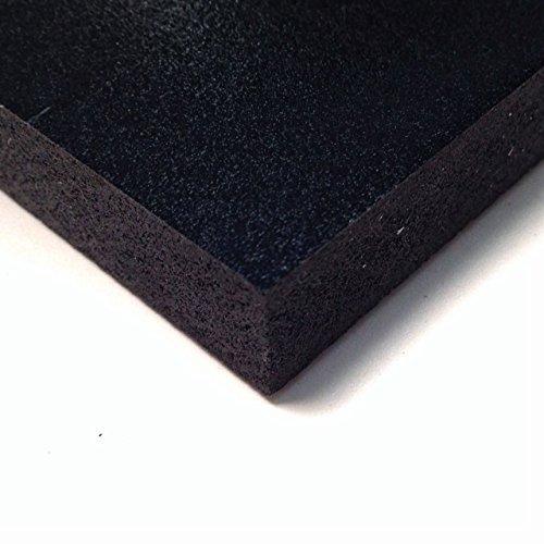 Expanded PVC Foam Board (Celtec), Black, 1/2