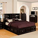 24/7 Shop at Home 247SHOPATHOME IDF-7059EK Platform-beds, King, Espresso