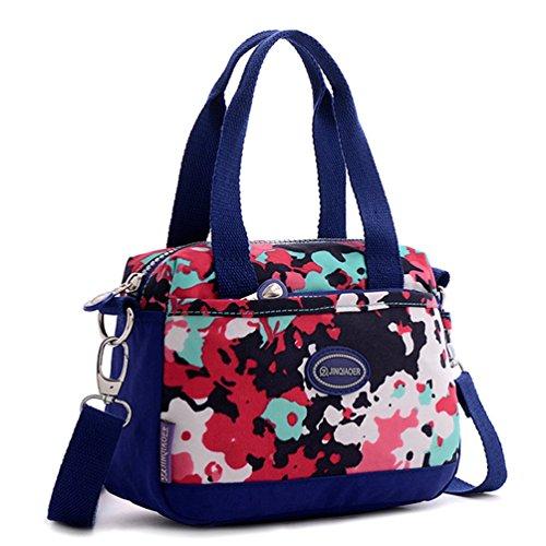 Tiny Chou Borsa leggera in nylon impermeabile borsa a tracolla sportiva borsa a tracolla per bambine Multicolore (Camo)