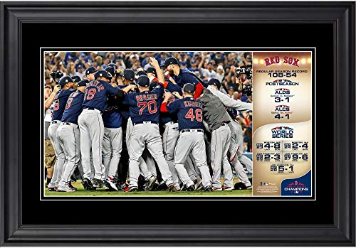 Sports Memorabilia Boston Red Sox 2018 MLB World Series Champions Framed 10