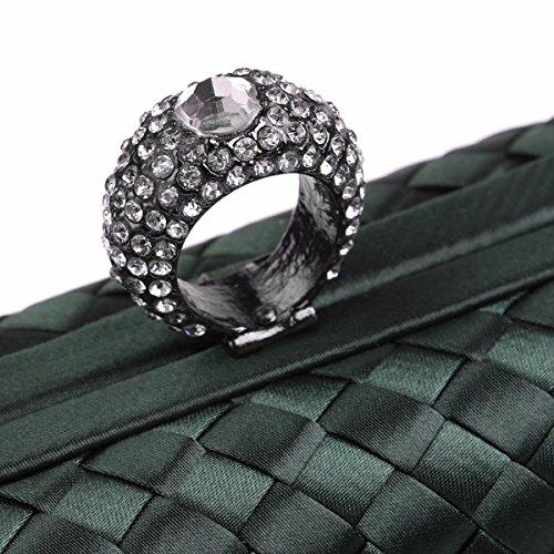 XJTNLB Soirée Green De Célèbre Robe Mariée Nouvelle Cheongsam Robe Une Blue Banquet Sac Et Sac qEYxBErPO