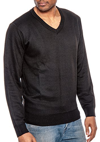 TR Fashion Men's Long Sleeve Soft Stretch V-Neck Casual Pullover Sweater