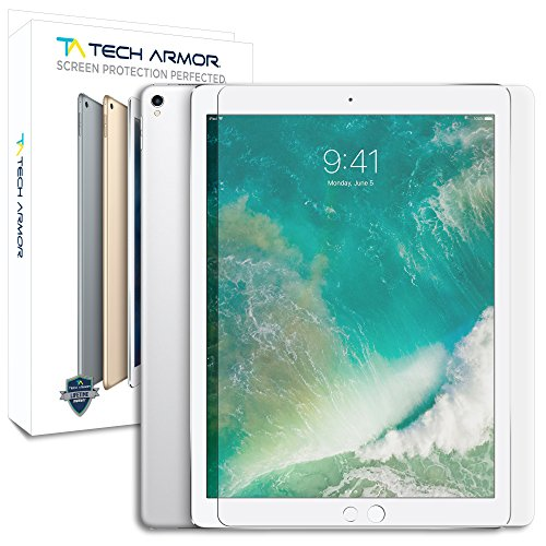 ": Tech Armor iPad Pro (12.9"") Ballistic Glass Screen Protector for Apple iPad Pro 12.9-inch (NEW 2017) [1-pack]"