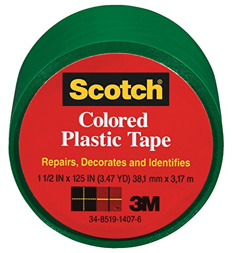 3M Scotch 191 Colored Plastic Tape, 125