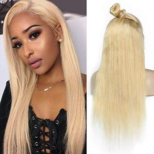 Xtrend Lace Front Wigs Straight Human Hair For Black Women 150 Density Brazilian Virgin Remy Hair With Soft Baby Hair 20inch (Blonde 613#)