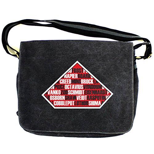 Arcane Store - Bolso al hombro de Algodón para hombre Negro Vintage