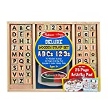Melissa & Doug Wooden ABC Activity Stamp Set, Multi