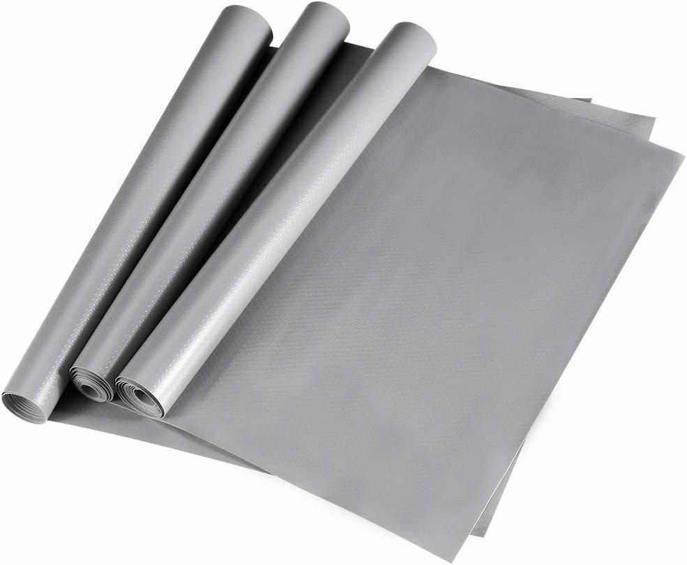 Dulcii Lot de 3/rouleaux de rev/êtement /étanche et antibact/érien /à coussinets antid/érapants pour r/éfrig/érateur et tiroirs En EVA durable 45/x 150/cm