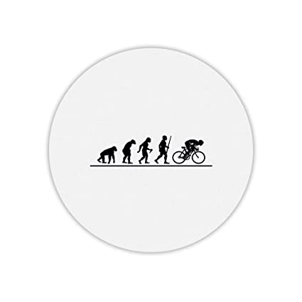 Alfombra de ratón Redondo Estampado evolución Bicicleta: Amazon.es ...
