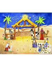 Advent Calendar - Starlit Stable Sticker by Vermont Christmas Company