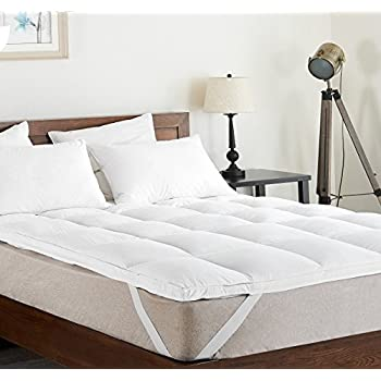 Amazon Superior Twin Mattress Topper Hypoallergenic White